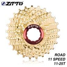 ZTTO – pignon de Cassette pour vélo de route 11 s 11-25T, doré, 22 vitesses, roue libre, 11 vitesses, 11-25T, pour pièces de bicyclette, 105, 5800, 6800