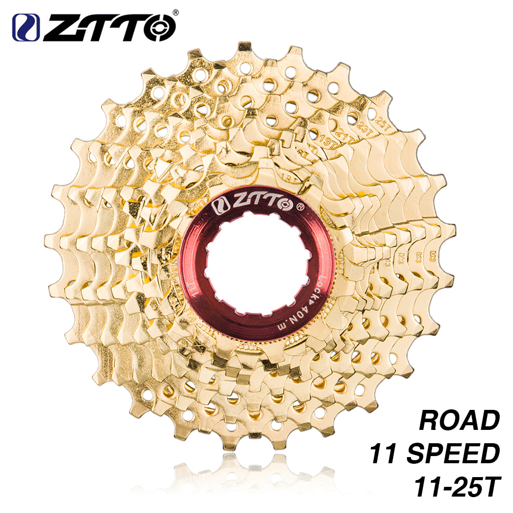 ZTTO Road Bike 11s 11-25T Gold Golden 22 Speed Freewheel Cassette Sprocket 11-25T for Parts 105 5800 ultegra 6800 Bicycle Part