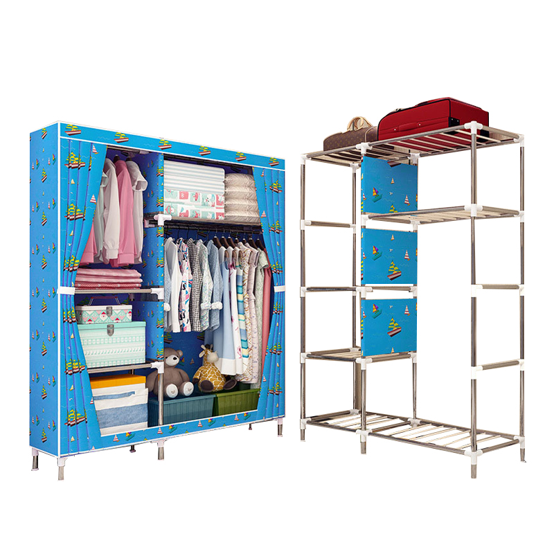 GIANTEX Cloth Wardrobe For clothes Fabric Folding Portable Closet Storage Cabinet Bedroom Home FurnitureGIANTEX Cloth Wardrobe For clothes Fabric Folding Portable Closet Storage Cabinet Bedroom Home Furniture