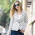 Veri Gude Women's Polka Dot Casual Blazer