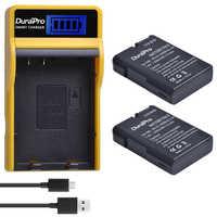 1200 mAh EN-EL14 es EL14a batería + LCD USB cargador para Nikon D3100 D3200 D5100 D5200 DF P7000 P7100 P7200 p7700 P7800 Cámara