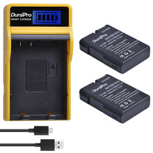 1200mAh EN-EL14 es EL14a batería + cargador USB con LCD para Nikon D3100 D3200 D5100 D5200 DF P7000 P7100 P7200 P7700 P7800 Cámara