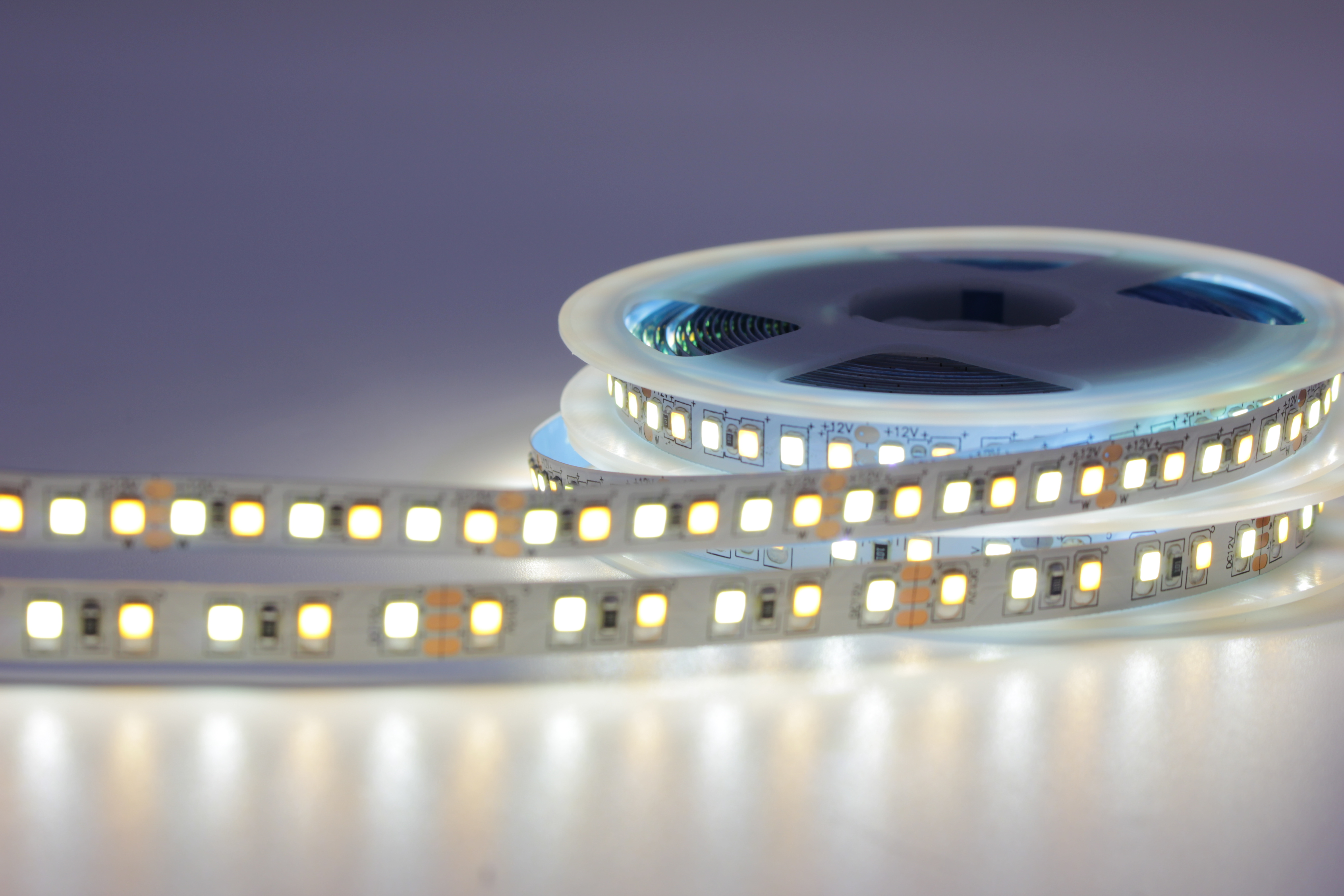 Image 3 - 5M Dual Color CRI>80 SMD2835 CCT Dimmable LED Strip Light 12V DC WW CW Color Temperature Adjustable Flexible LED Tape Ribbon-in LED Strips from Lights & Lighting