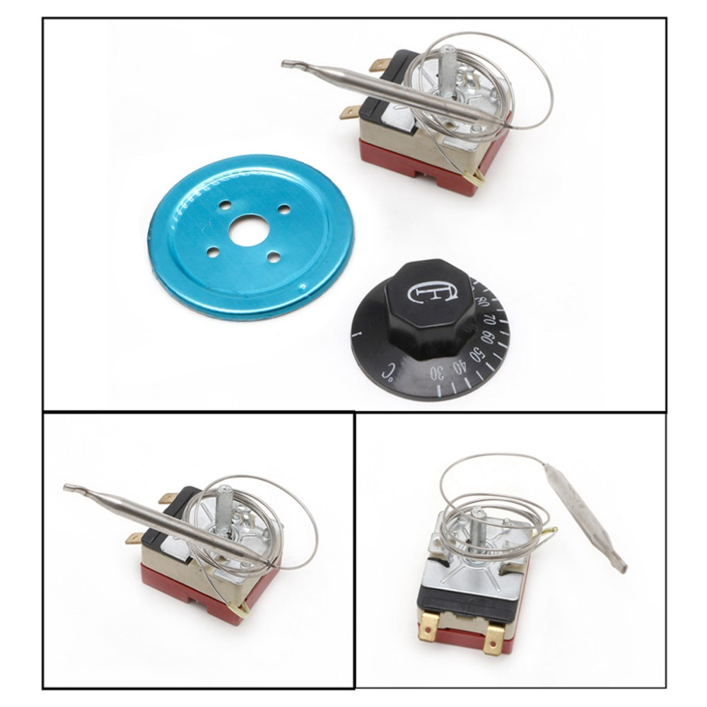 250V 16A Temperature Controller 30-110 Celsius Thermostat Knob Capillary Switch250V 16A Temperature Controller 30-110 Celsius Thermostat Knob Capillary Switch