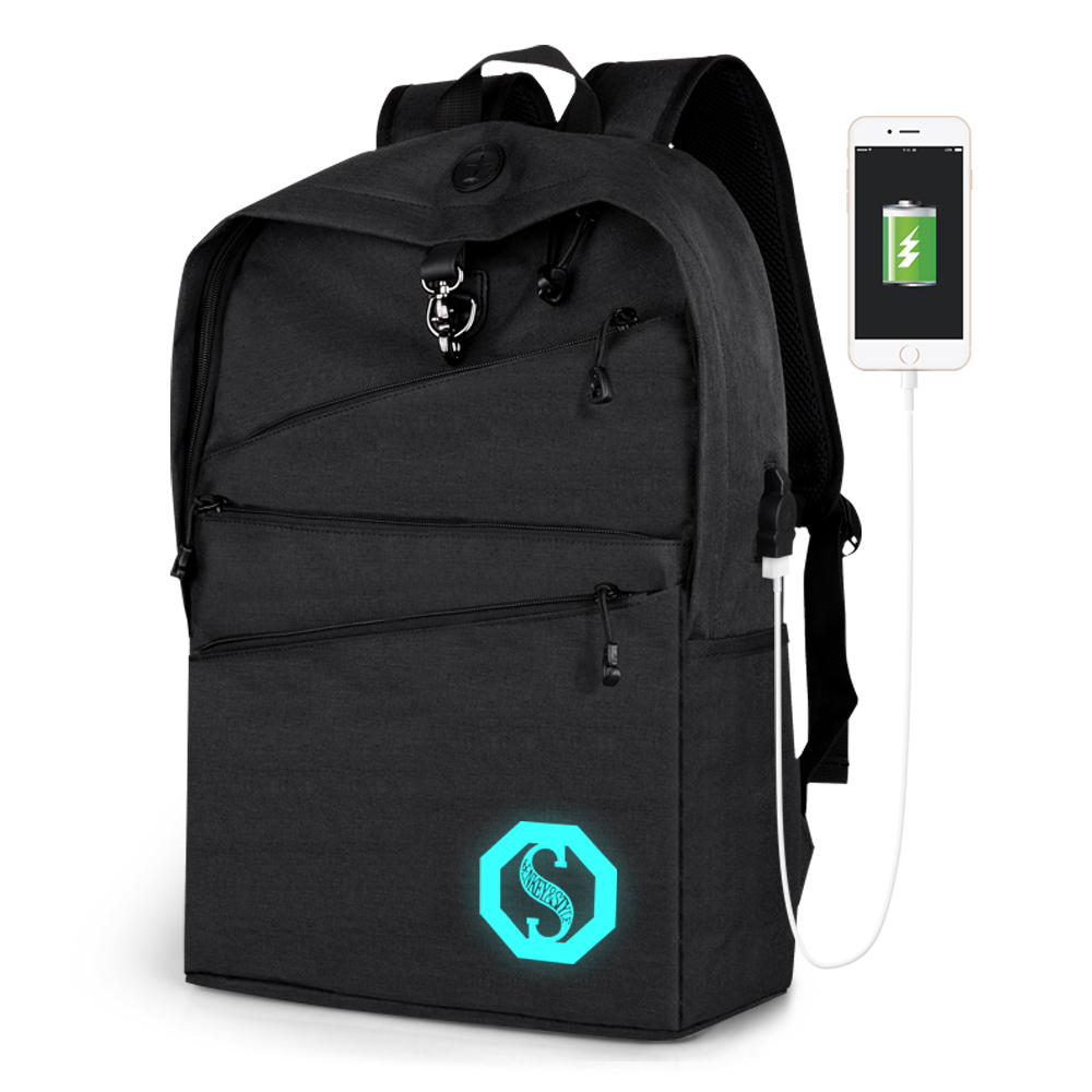 Travel Sac Large Business A USB Backpack 2018 Female Homme Anti Double New Student Luminous Bag Male Dos theft Sport Sports 1wCqx1ZIt