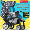 Inverno 4 Temporadas de verão Carrinho de Bebê Cesta de Dormir Tamanho Grande Carrinho De Bebê Carrinho de Bebê Carrinho de Bebê de Alta Classe de Luz Portátil
