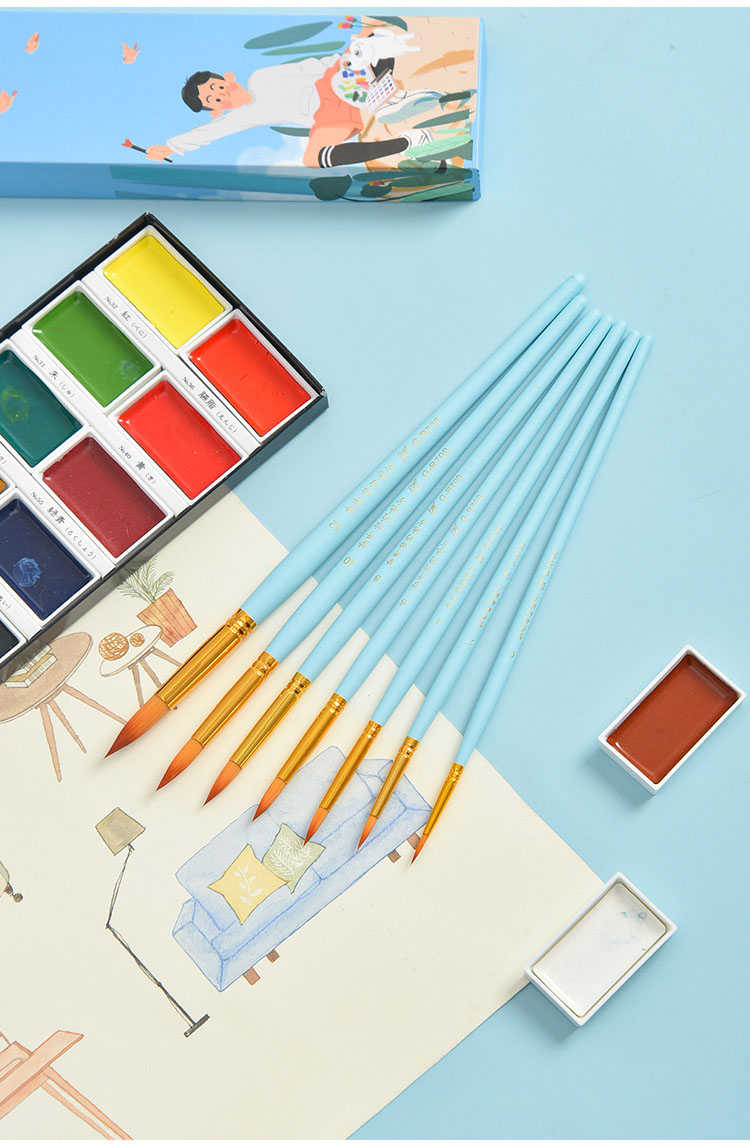 náilon paintbrush suite iniciante adulto profissional desenho
