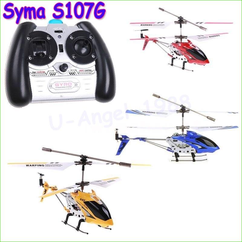 3.5CH Elicottero RC con giroscopio Syma S107G S107 di Controllo Radiofonico del Metallo fusoliera in lega di R/C Helicoptero Spedizione Gratuita