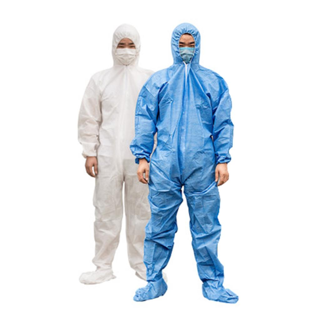 Waterproof Oil-Resistant Disposable Protective Coverall Hooded Suit Breathable Beekeeping Antistatic Chemical Work ClothingL-3XL