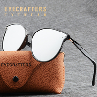 1c6be2310 Luxury TR90 Light Weight Cat Eye Sunglasses For Women Vintage Shades  Oversized Silver Mirrored Polarized Sunglasses. Luxo TR90 Peso Leve Gato  óculos de Sol ...