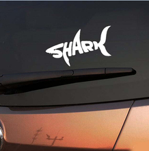 1PCS14 8cm SHARK car font b stickers b font cool letter automobile modeling car decoration FREE