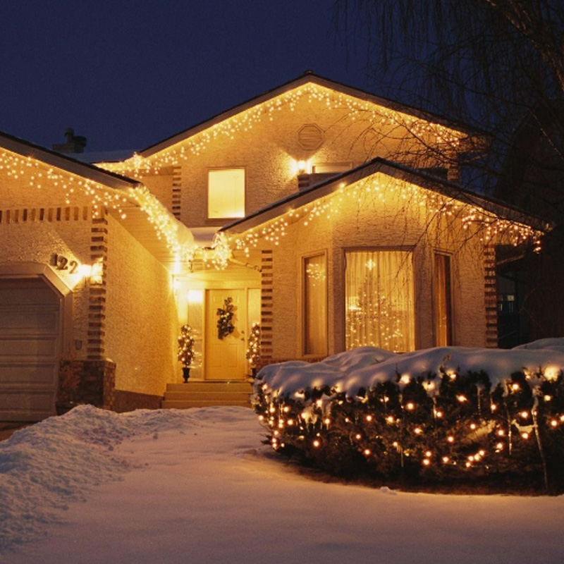 Multi Color 5M 96SMD Snowflake LED-islampa String Gardinljus Holiday - Festlig belysning - Foto 6