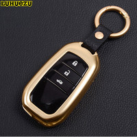 Alloy Key Chain Rings Key Boxes Bag For Toyota Land Cruiser Prado Corolla Camry Highlander Crown