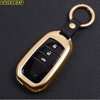 Luhuezu Luhuezu Hợp Kim Key Chain Nhẫn Key Hộp Túi Cho Toyota Land Cruiser Prado Corolla Camry Highlander Thái Phụ Kiện