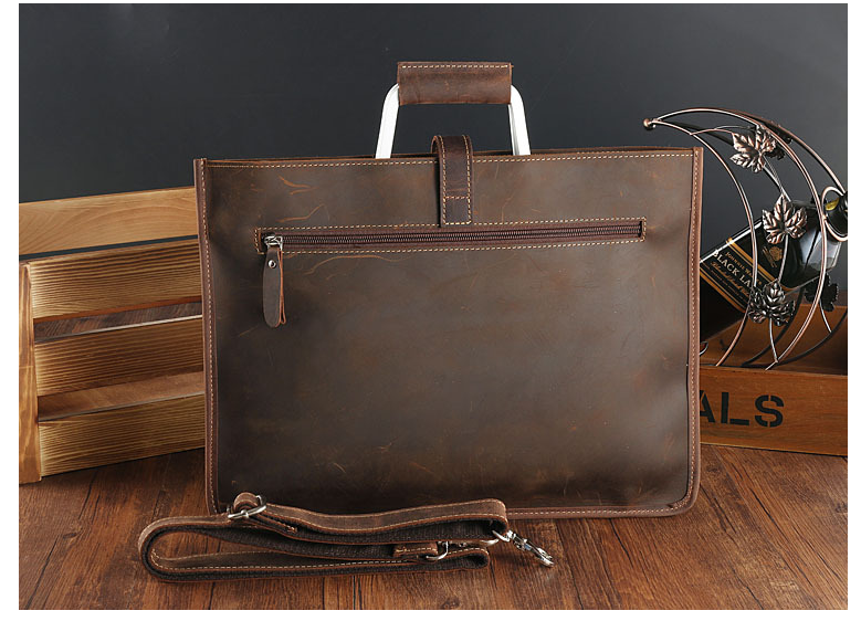 chic Vintage Men Genuine Leather Briefcase Crossbody Shoulder Laptop Cowhide Bag Graceful Business Handbag Bolso Hombre D257