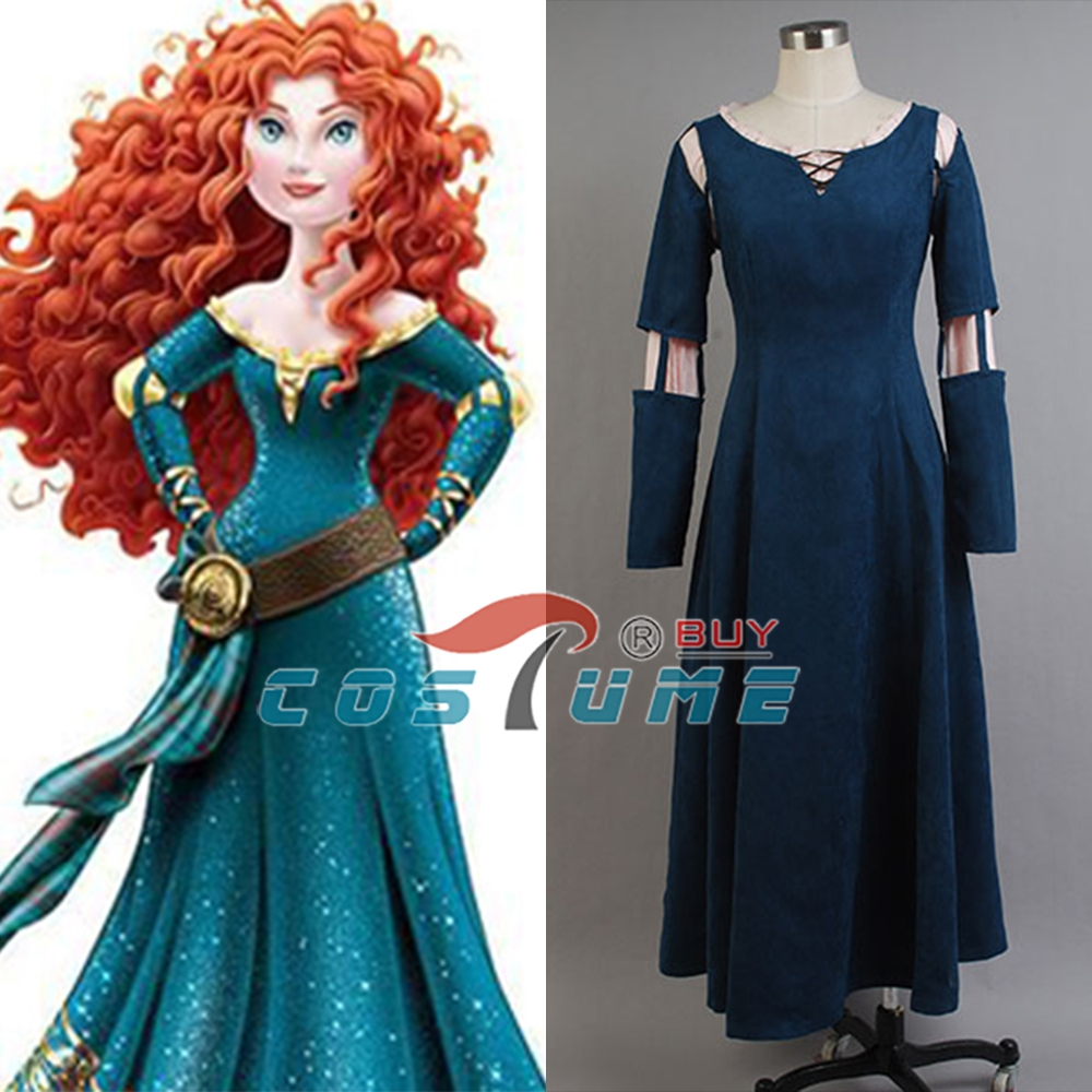 High Quality Brave Princess Merida Halloween Cosplay Costumes For Women Custom Made