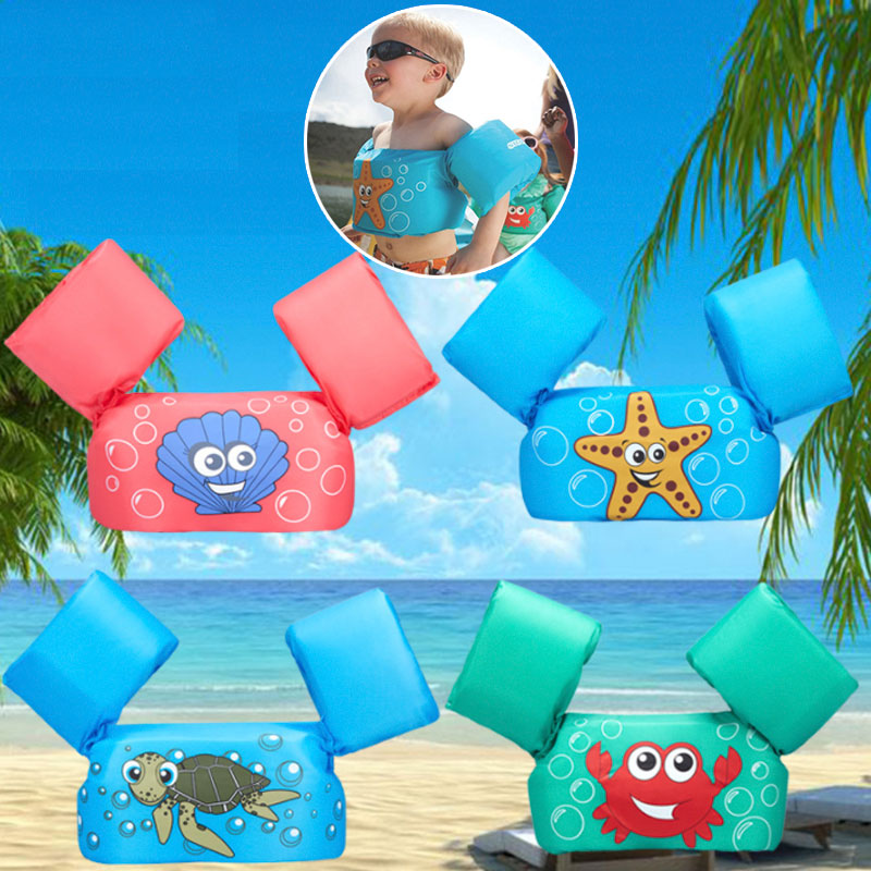 No Inflatable Baby Float Arm Swimming Buoyancy Foam Life Jacket Safety For Accessories Baby Swimming Cartoon Vest  Swimming Pool