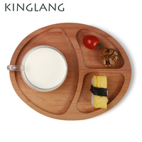 OVAL tray for kids breadfast wood sushi divide plate cake coffee snack dish high tea appertizer tapas dishes for sale