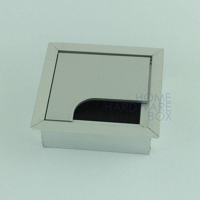 desk wire grommet aluminum 3\