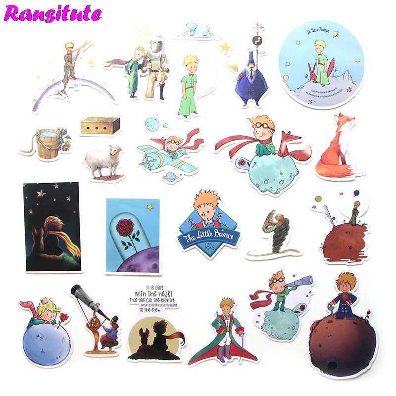 R262 23pcs/set Le Petit Prince Anime Cartoon Sticker DIY Luggage Laptop  Skateboard Car Motorcycle Sticker