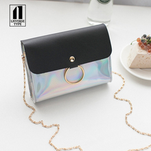 2019 New Style PVC Laser ring women bags Jelly Crossbody Bag Transparent Candy Color Women Fashion Handbag Shoulder Bags