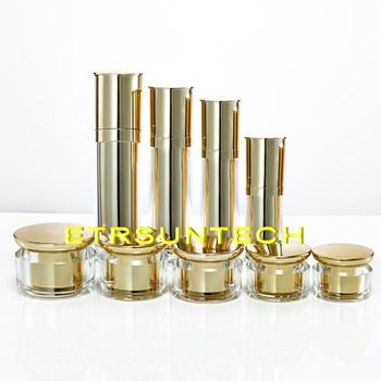 20g 30g 40 50g 60g Reverse Side Gold Acrylic Cream Jar Empty Cosmetic Container Jar Lotion 30 50 80 120 ml Pump Bottle