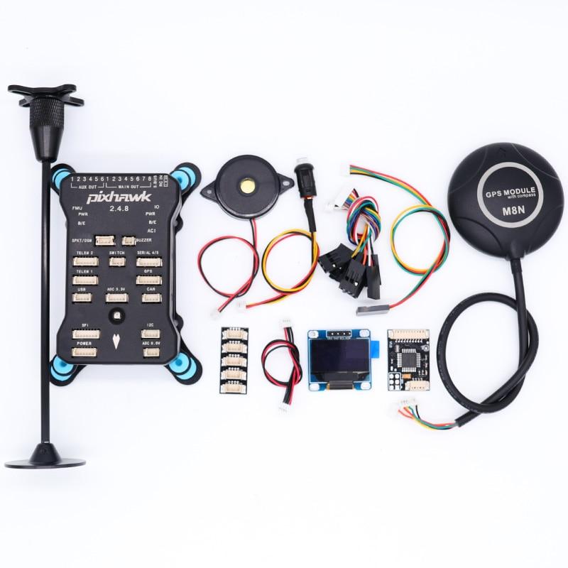 Pixhawk PX4 PIX 2.4.8 32 ビットフライトコントローラー付/4 グラム SD 安全スイッチブザー M8NGPS + PPM + i2C + gps は + ショックアブソーバー + カードリーダー  グループ上の おもちゃ & ホビー からの パーツ & アクセサリー の中 1