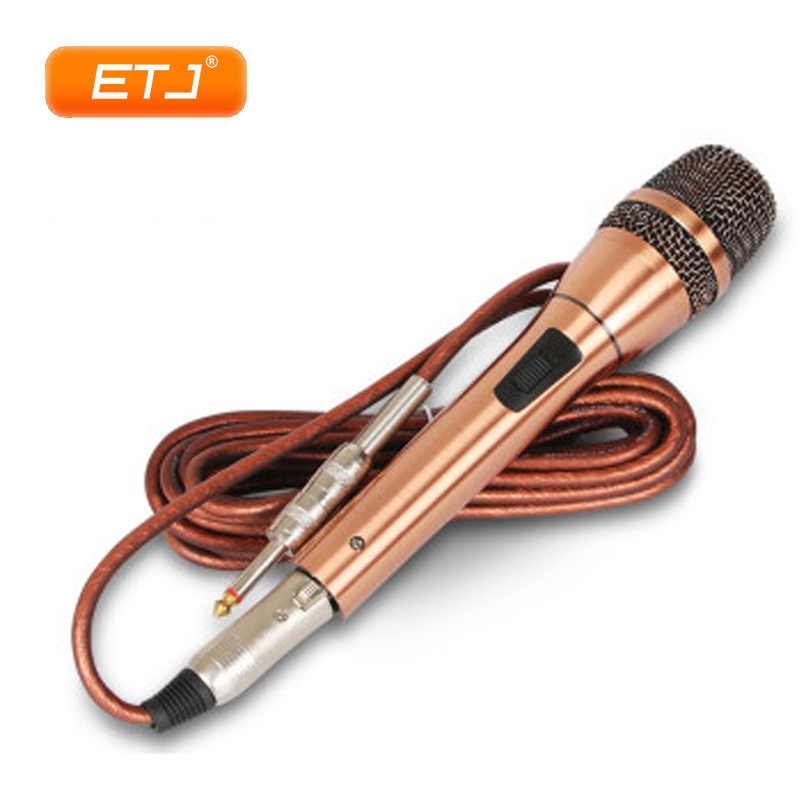 Top Qualité Professionnel Karaoké Dynamique Super Cardioïde Vocal Wired Cuivre microphone portatif Microfone Mike Mic