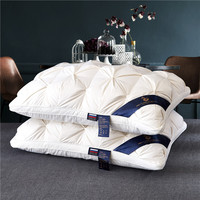 35 White Bread Style 48*74cm Rectangle Goose/Duck Down Pillow Bedding set Whole cotton goose wool pillow Comfortable Soft Pillow