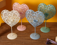 2016 New Arrived Retro Europe Style Heart Tealight Holders For Wedding Creative Home Decor Hollow Out