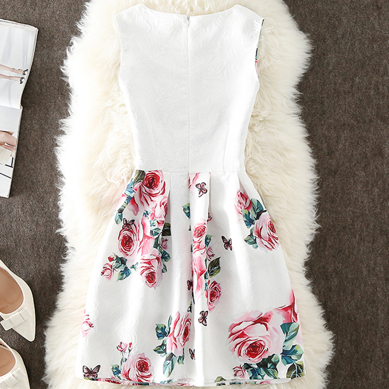 VENFLON Summer Dress Women 2019 Plus Size 5XL Sleeveless A-Line Casual Elegant Sexy Floral Short Party Dresses vestidos 1