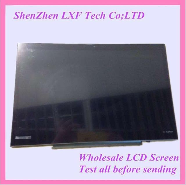 Para lenovo T hinkPad carbono X1 segundo LP140QH1 SPA2 pantalla LCD táctil de reemplazo del Panel digitalizador asamblea LCD