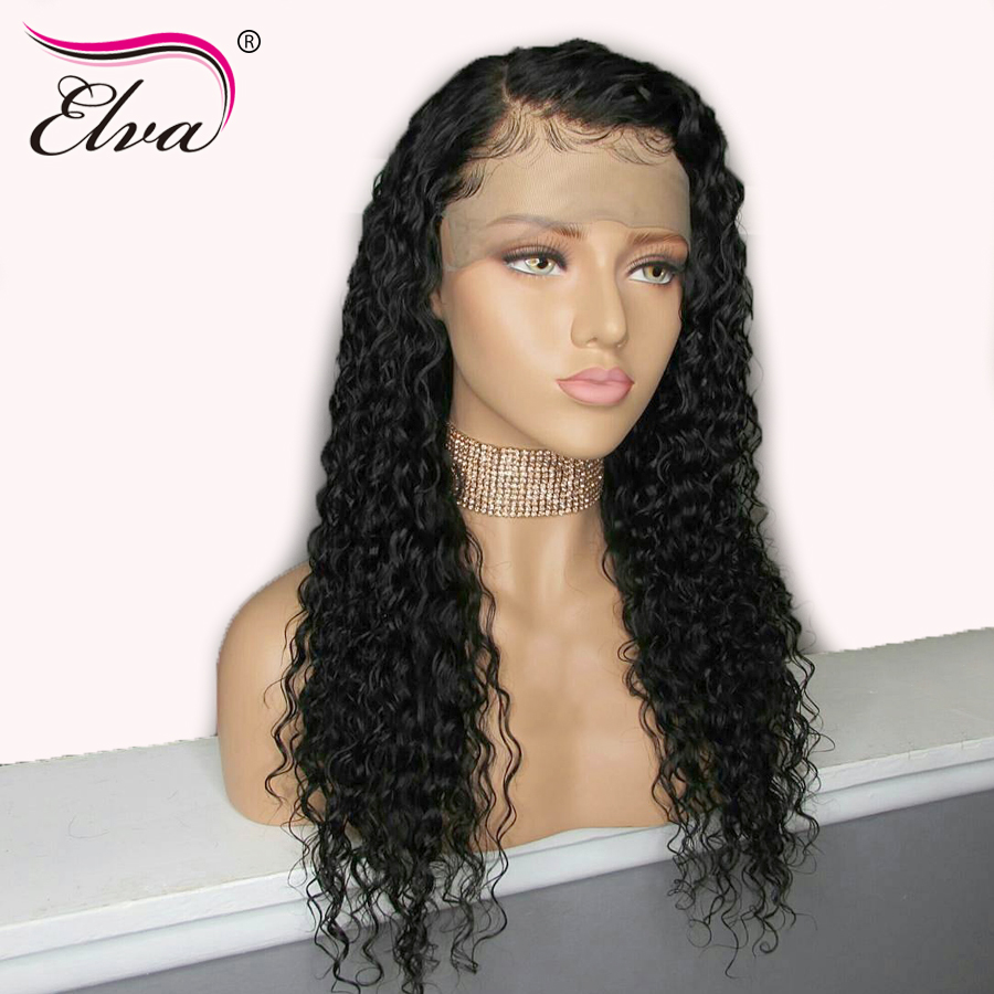 Elva Hair Full Lace Human Hair Wigs For Black Women Brazilian Remy Curly Human Hair Wigs Pre Plucked Hairline With Baby Hair(China)