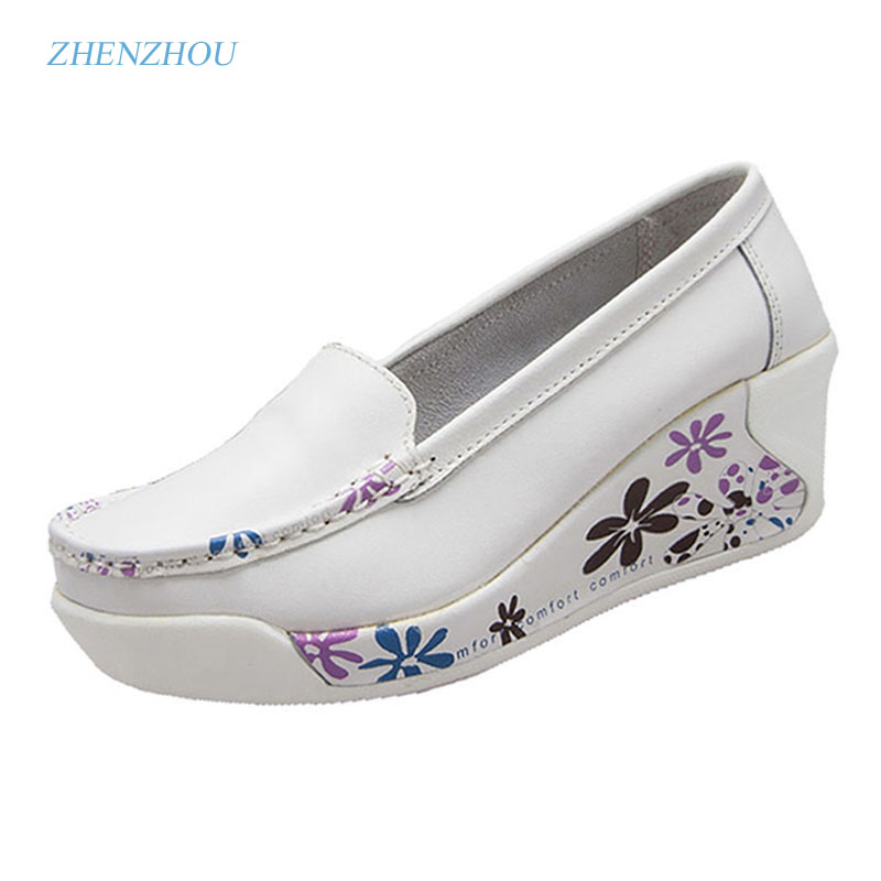 New Free shipping2017 women's shallow mouth  single shoes casual wedges soft outsole woman swing shoes mother  maternity 2016 shallow mouth pointed single flat shoes soft leather shoes flat heel shoes professional work shoes mother