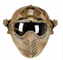 마스크와 전술 헬멧 군사 Airsoft 육군 WarGame 오토바이 사이클링 사냥 야외 활동을 타고
