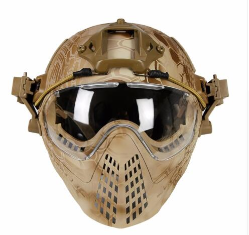 Tactical helmet with Mask Military Airsoft Army WarGame Motorcycle Cycling Hunting Riding Outdoor Activities(China)