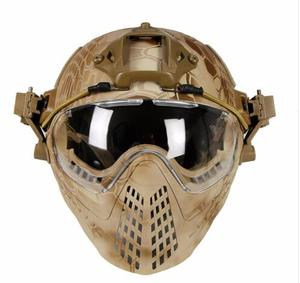 Image 1 - Tactical helmet with Mask Military Airsoft Army WarGame Motorcycle Cycling Hunting Riding Outdoor Activities