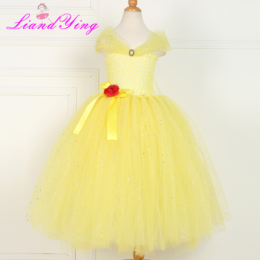 Gorgeous Flower Girl Tutu Dress for A Vintage Wedding 2-12y Kids Girl Yellow Flower Dress Baby Girl Clothes Birthday Party Photo бандажи до и послеродовые фэст бандаж бесшовный дородовой