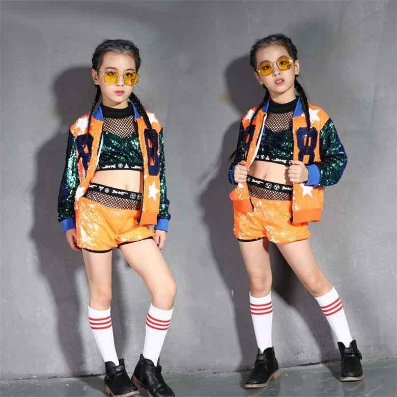 75a24b9acba Новые блестящие джаз танцевальные костюмы обувь для девочек блёстки костюм  для современного танца новый ребенок вышивка