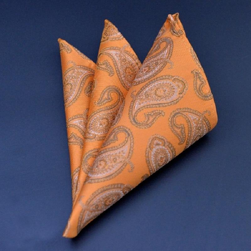 Men Pocket Square Handkerchiefs Flower Paisley Dot Square Pocket Towel Casual Pocket For Men Suit Hanky Brand