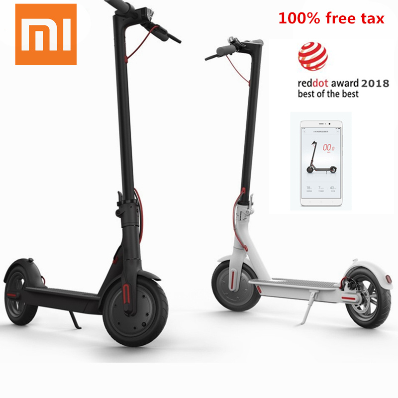 Original Xiaomi Mijia M365 Smart Electric Scooter foldable Mi hoverboard skateboard Kick Scooter 30KM APP 7800mAH LG Battery
