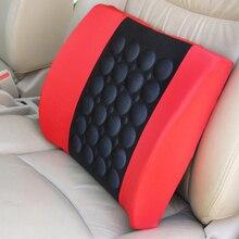цены Universal Car Lumbar Support Pillow 12V Electric Massage Lumbar Pillow Car Seat Back Relaxation Waist Support Cushion Pillow