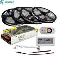 DC 12V RGBW LED Strip 5050 ip65 Waterproof Flexible Led Light + 2.4G RF Remote Controller + Power adapter Kit 20M 15M 10M 5M