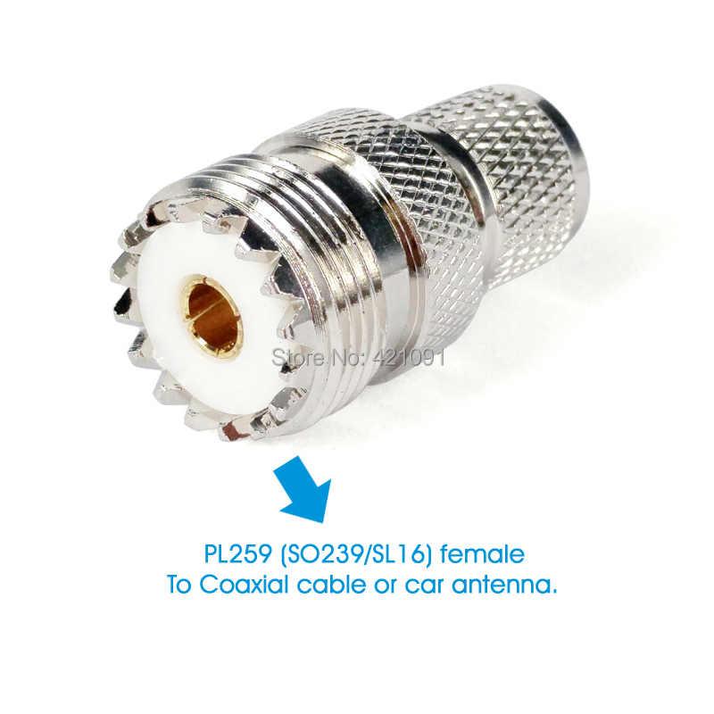Mini UHF hombre UHF mujer SO239 PL259 conector Coaxial de RF adaptador Coaxial para Motorola GM300 SM120 GM338 Radio de coche walkie Talkie