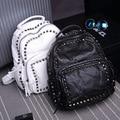 2015 Genuine Leather Rivet Backpack Sheepskin Bag Women School Bags Travel bags Women Casual Bag