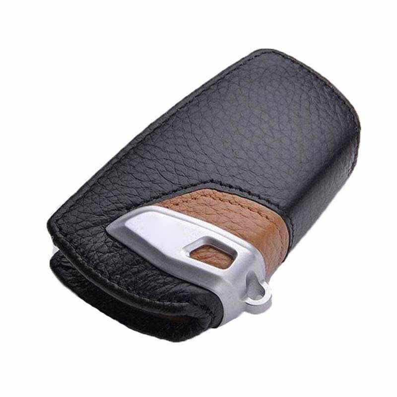 Skórzany brelok do kluczyków samochodowych dla BMW etui na klucze G30 F10 F20 F11 F07 F2 F80 X3 X4 serii 5 obudowa kluczyka do samochodu skórzany na klucze portfel Car Styling