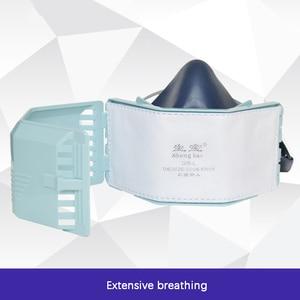 Image 2 - אבק מסכת סיליקון מסכת אבק מסנן כותנה שילוב סט עבור תעשייתי אבק הגנת ליטוש אבק PM2.5 מגן מסכה