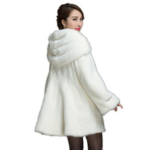 New 2016 Women Faux Mink Fur Coats And Jackets Parka Luxury Ladies Plus Size Fashion Hooded Fur Coat Brand Outerwear CT205
