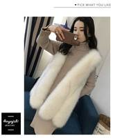 New Korean style super fashion autumn and winter faux fox fur sleeveless slim vest for women