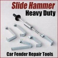 pulling hook slide hammer kit dent puller set body shop equipment car auto body fender dent repair tools heavy duty garage diy